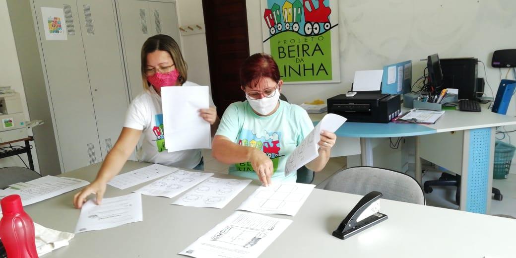 Entrega de Atividades pedagógicas do Projeto Beira Da Linha